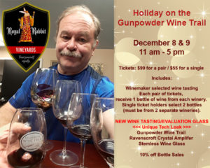 Holiday on the Gunpowder Wine Trail, December 8 and 9th, 2018