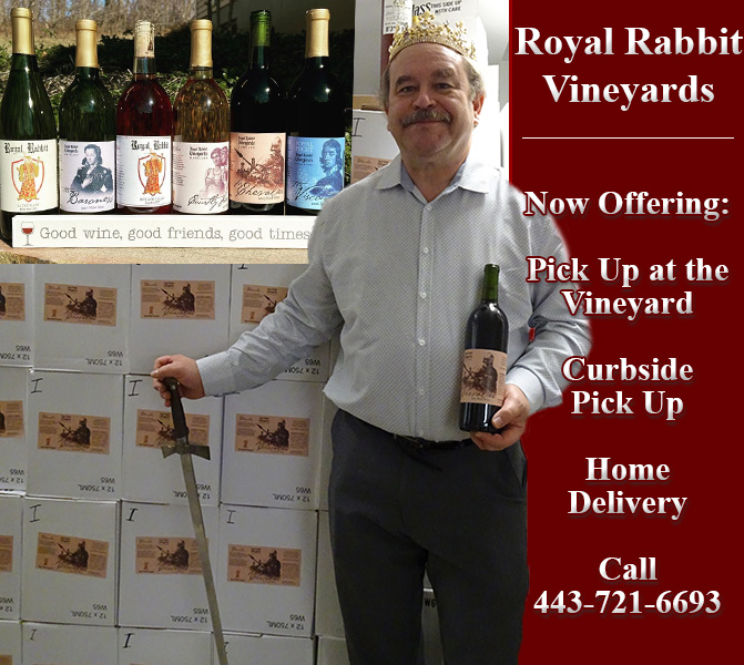 Royal Rabbit Wines for Pick Up and Delivery