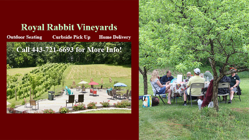 Royal Rabbit Vineyard Outdoor seating open - Curbside Pickup - Delivery