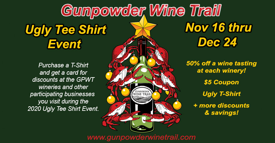 GPWT Ugly T-Shirt MARYLAND CRAB AND WINE LOVERS EVENT 11-16 THRU 12-24