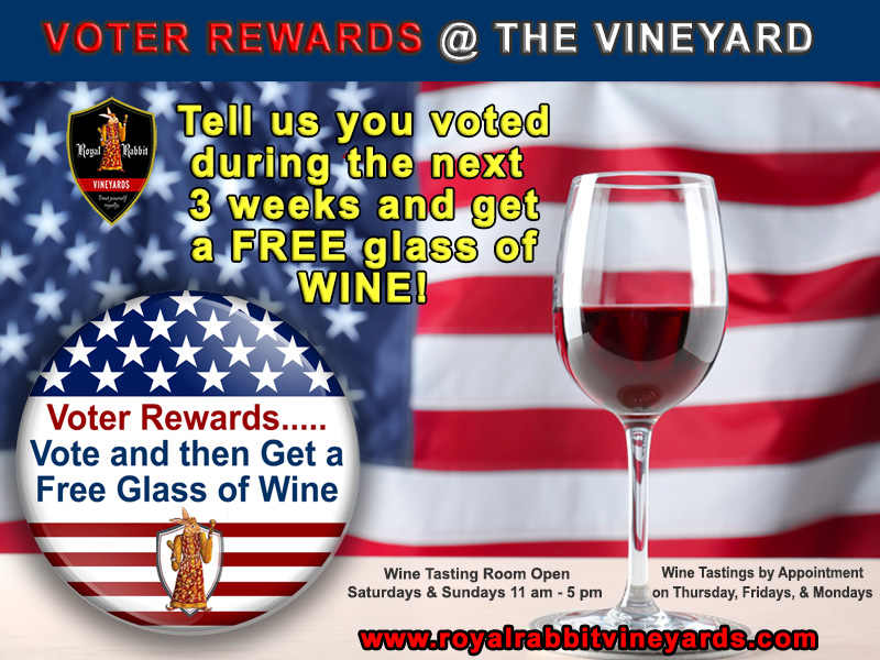 2020 voter rewards at the vineyard